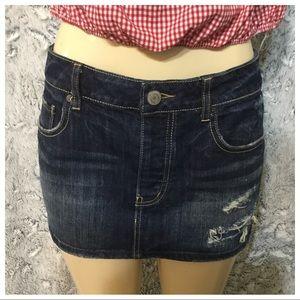 American Eagle Distressed Mini Skirt Sz 12